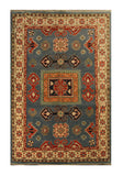 22686 - Kazak Hand-Knotted/Handmade Afghan Tribal/Nomadic Authentic