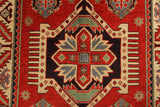 "22687 - Kazak Hand-Knotted/Handmade Afghan Tribal/Nomadic Authentic/Size 5'10"" x 4'1"""