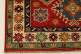 "22688 - Kazak Hand-Knotted/Handmade Afghan Tribal/Nomadic Authentic/Size 5'8"" x 4'0"""