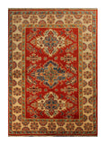 "22757 - Kazak Afghan Hand-knotted Contemporary/Modern Nomadic/Tribal Carpet/Rug/Size 5'10"" x 4'1"""