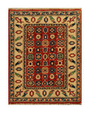 22825 - Kazak Afghan Hand-knotted Contemporary/Modern Nomadic/Tribal Carpet/Rug