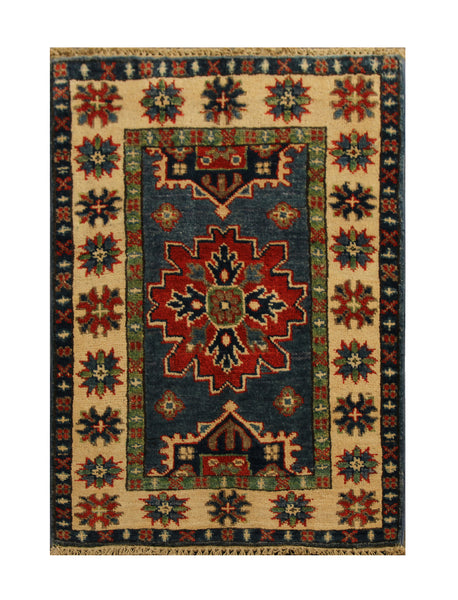 22820 - Kazak Afghan Hand-knotted Contemporary/Modern Nomadic/Tribal Carpet/Rug