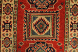 22818 - Kazak Afghan Hand-knotted Contemporary/Modern Nomadic/Tribal Carpet/Rug