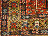 "16072-Uzbek Hand-Knotted/Handmade Afghan Rug/Carpet Tribal/Nomadic Authentic 8'2"" x 5'5"""