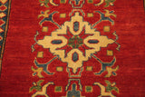 17858-Kazak Hand-Knotted/Handmade Afghan Rug/Carpet Tribal/Nomadic Authentic