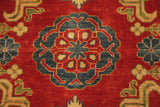 17877-Kazak Hand-Knotted/Handmade Afghan  Rug/Carpet Tribal/Nomadic Authentic