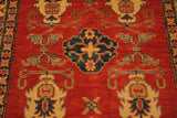 17933-Kazak Hand-Knotted/Handmade Afghan Rug/Carpet Tribal/Nomadic Authentic
