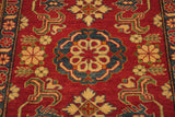 "17888-Kazak Hand-Knotted/Handmade Afghan Rug/Carpet Tribal/Nomadic Authentic5'4"" x 3'11"""