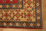 17853-Kazak Hand-Knotted/Handmade Afghan Rug/Carpet Tribal/Nomadic Authentic
