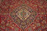 16655-Kashan Hand-Knotted/Handmade Persian Rug/Carpet Traditional Authentic