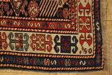 16035-Ghazaf Kazak Hand-Knotted/Handmade Russian Rug/Carpet Tribal/Nomadic Authentic
