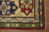 18423-Kazak Hand-Knotted/Handmade Afghan Rug/Carpet Tribal/Nomadic Authentic