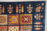 19301-Chobi Ziegler Hand-Knotted/Handmade Afghan Rug/Carpet Tribal/Nomadic Authentic