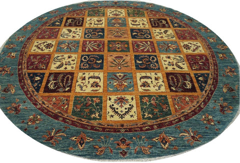 18681-Chobi Ziegler Hand-Knotted/Handmade Afghan Rug/Carpet Tribal/Nomadic Authentic