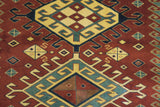 19366-Shirvan Handmade/Hand-knotted Afghan Rug/Carpet Tribal/Nomadic Authentic