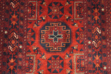 19867-Khal Mohammad Hand-Knotted/Handmade Afghan Rug/Carpet Tribal/Nomadic Authentic