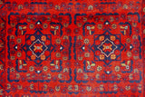 20646-Khal Mohammad Hand-Knotted/Handmade Afghan Rug/Carpet Tribal/Nomadic Authentic