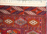 20512-Turkmen Hand-Knotted/Handmade Persian Rug/Carpet Tribal/Nomadic Authentic