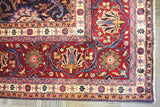 20353-Mashad Hand-Knotted/Handmade Persian Rug/Carpet Traditional Authentic