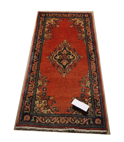 "21455 - Hamadan Hand-Knotted/Handmade Persian Rug/Carpet Traditional Authentic 4'3"" x 2'0"""