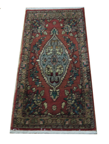 19571-Bidjar Hand-Knotted/Handmade Persian Rug/Carpet Tribal/Nomadic Authentic 4'2''x2'1''