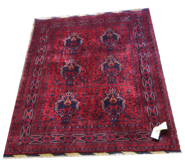 19868-Khal Mohammad Hand-Knotted/Handmade Afghan Rug/Carpet Tribal/Nomadic Authentic