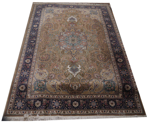 19902B-Tabriz Hand-Knotted/Handmade Persian Rug/Carpet Traditional Authentic