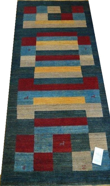 "15427-Lori Gabbeh Hand-Knotted/Handmade Persian Rug/Carpet Tribal/Nomadic Authentic  6'10"" x 3'0"""