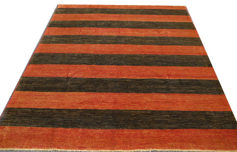 18031-Chobi Ziegler Hand-Knotted/Handmade Afghan Rug/Carpet Tribal/Nomadic Authentic