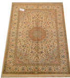15047 - Qom Persian Hand-Knotted Authentic/Traditional Carpet/Rug Silk-made Signed-piece