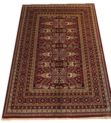 "16060-Shirvan Hand-Knotted/Handmade Azerbaijan Rug/Carpet Tribal/Nomadic Authentic 7'5"" x 4'9"""