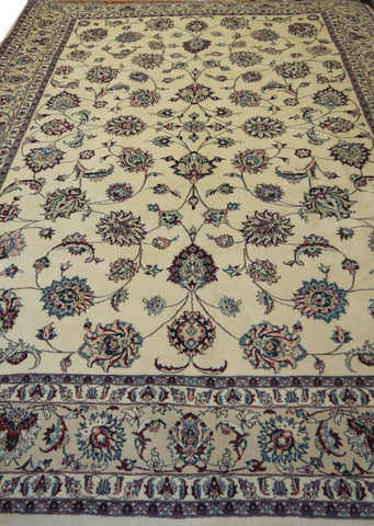 19795-Mashad Hand-Knotted/Handmade Persian Rug/Carpet Traditional Authentic
