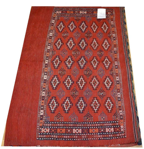 "15153-Turkmen Sumac Bag Hand-Knotted/Handmade Persian Rug/Carpet Tribal/Nomadic Authentic 4'0"" x 2'8"""