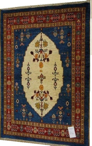 "15494-Lori Gabbeh hand-Knotted/Handmade Persian Rug/Carpet Traditional Authentic 5'4"" x 3'7"""