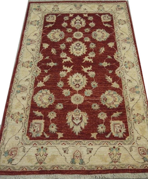 19216-Chobi Ziegler Hand-Knotted/Handmade Afghan Rug/Carpet Traditional Authentic 4'8''x 2'10''