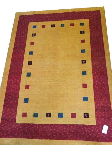 "15081 - Lori Persian Hand-knotted Authentic/Traditional Nomadic/Tribal Gabbeh 9'8"" x 6'10"""