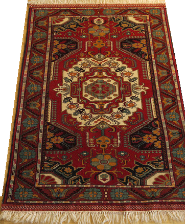 "16062-Kazak Hand-Knotted/Handmade Afghan Rug/Carpet Tribal/Nomadic Authentic 5'11"" x 4'1"""
