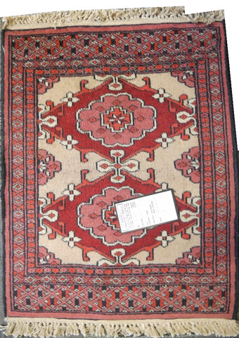 "20315 -Balutch Hand-Knotted/Handmade Persian Rug/Carpet Tribal/Nomadic Authentic2'0"" x 1'6"""