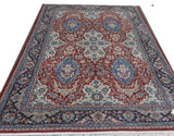 "15274-Sarough Hand-Knotted/Handmade Persian Rug/Carpet Traditional Authentic 9'5""x6'10"""