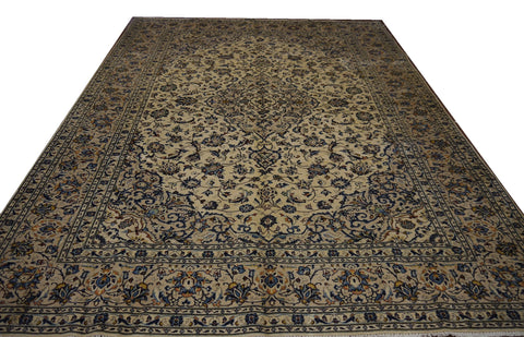 19516-Kashan Handmade/Hand-Knotted Persian Rug/Carpet Authentic