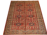 16077-Royal Kazak Hand-Knotted/Handmade Afghan Rug/Carpet Tribal/Nomadic Authentic