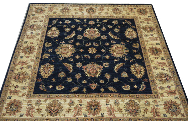 19305-Chobi Ziegler Hand-Knotted/Handmade Afghan Rug/Carpet Tribal/Nomadic Authentic