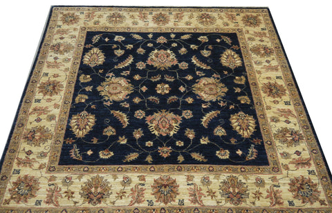 "19305-Chobi Ziegler Hand-Knotted/Handmade Afghan Rug/Carpet Tribal/Nomadic Authentic 5'1"" x 5'1"""