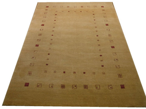 "17840-Loribaft Gabbeh Hand-Knotted/Handmade Persian Rug/Carpet Tribal/Nomadic Authentic7'1"" x 4'8"""