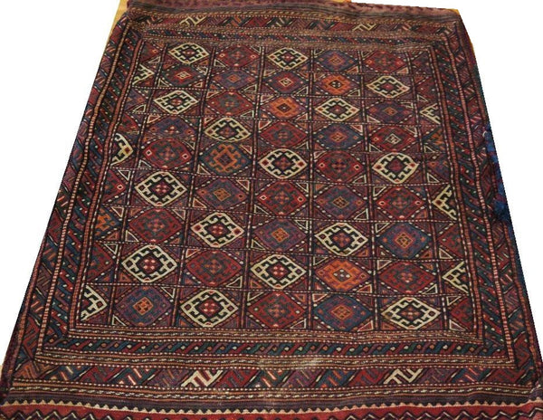 15108-Sumac Bag Turkmen Hand-Knotted/Handmade Persian Rug/Carpet Tribal/Nomadic Authentic