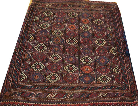 "15108-Sumac Bag Turkmen Hand-Knotted/Handmade Persian Rug/Carpet Tribal/Nomadic Authentic  3'6"" x 2'7"""