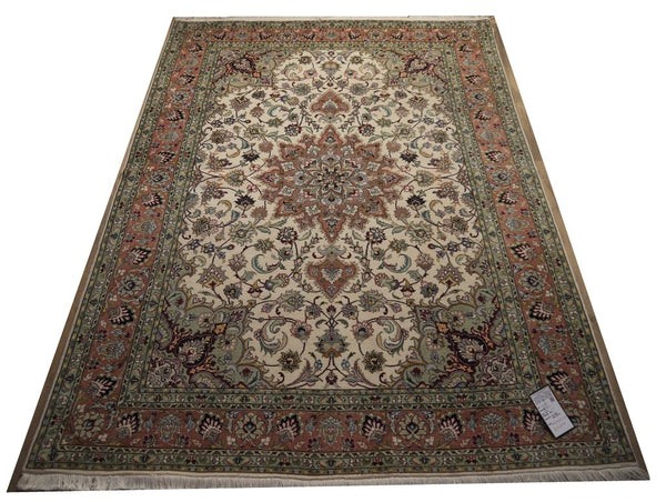 21466-Tabriz Hand-knotted/Handmade Persian Rug/Carpet Traditional Authentic