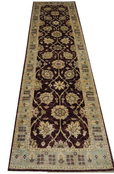 19344-Chobi Ziegler Handmade/Hand-knotted Afghan Rug/Carpet Tribal/Nomadic Authentic