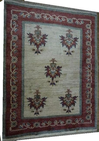 "15522-Lori Gabbeh Hand-Knotted/Handmade Persian Rug/Carpet Traditional Authentic  4'2"" x 3'3"""