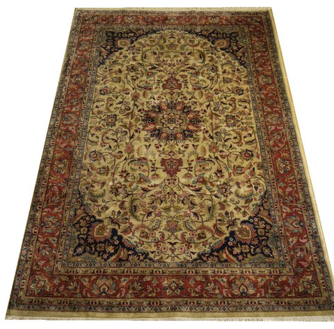 16321-Sarough Hand-Knotted/Handmade Indian Rug/Carpet Traditional Authentic